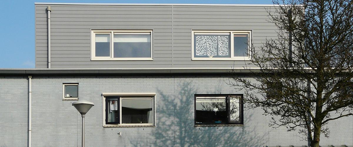 Woningen met plat dak