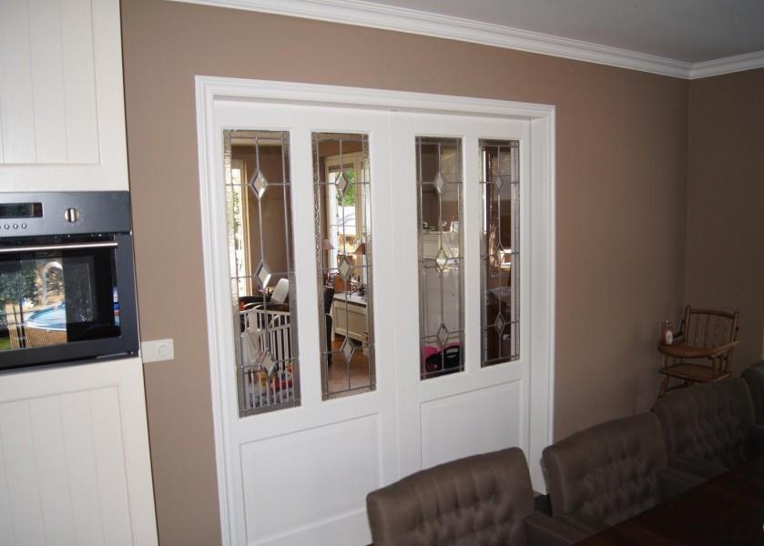Binnendeuren riezebos bouwbedrijf - Afscheiding glas keuken woonkamer ...