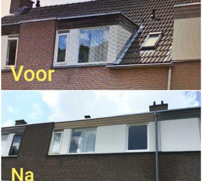 Gevel aanpassing gemaakt in Zwolle.